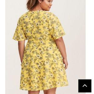 torrid Dresses - Floral print georgette wrap dress